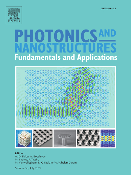 Photonics and Nanostructures - Fundamentals and Applications